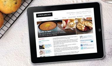 Baking up a fresh website