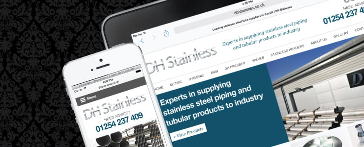 DH Stainless Responsive Website