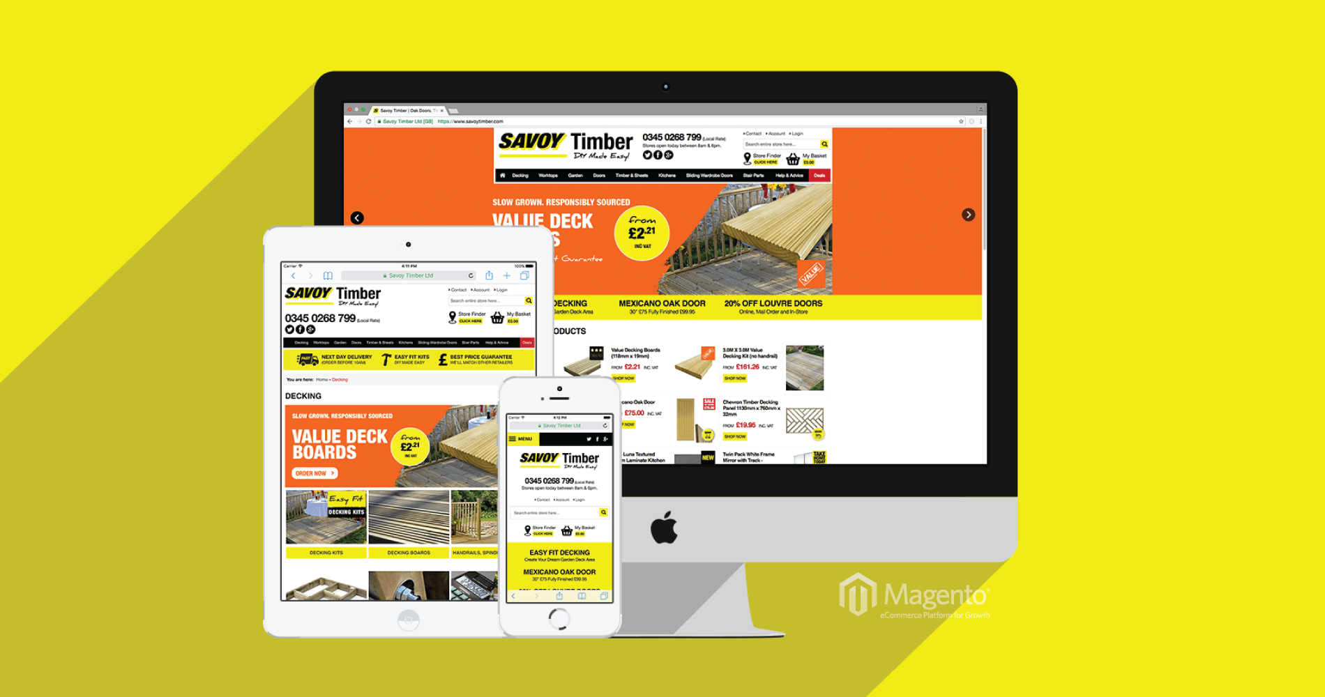 Savoy Timber - Magento Website