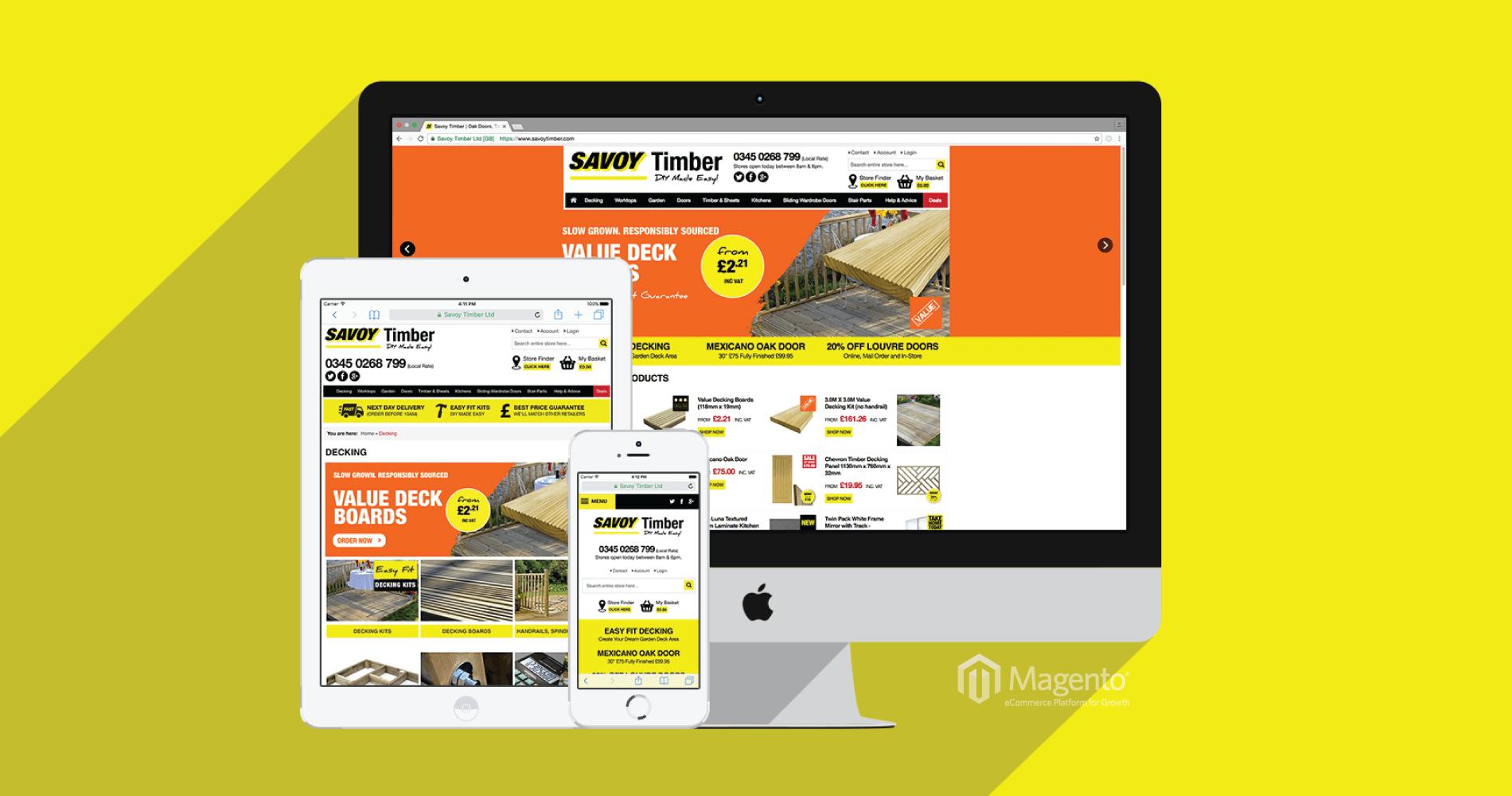 Savoy Timber - Magento Website