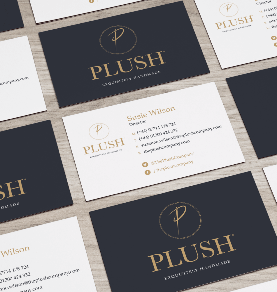Plush Business cards