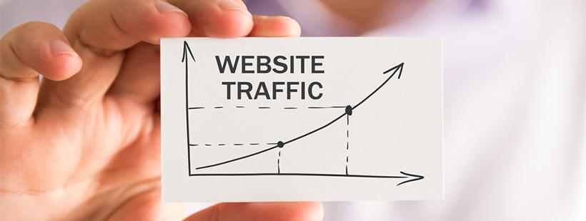 website traffic rising