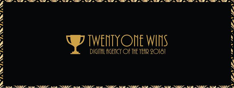 Twentyone wins Digital Agency of the Year 2018!