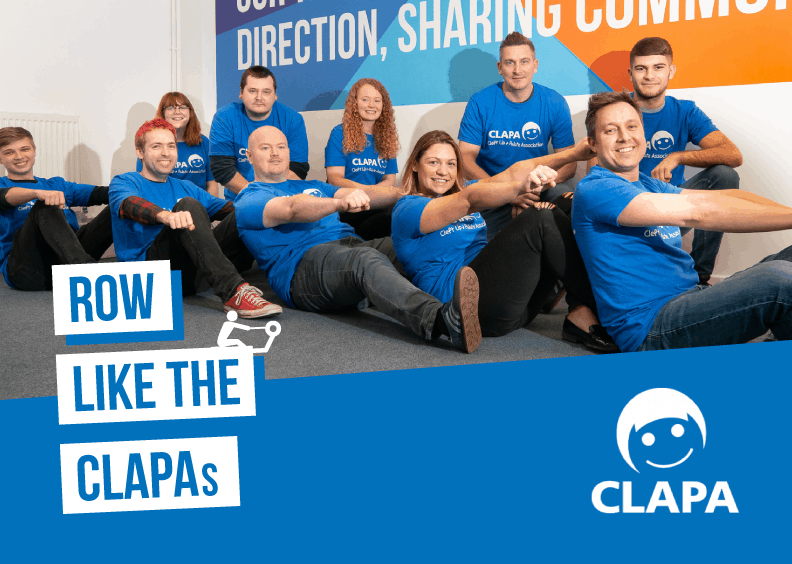 We're all set to 'Row like the CLAPAs' for charity!