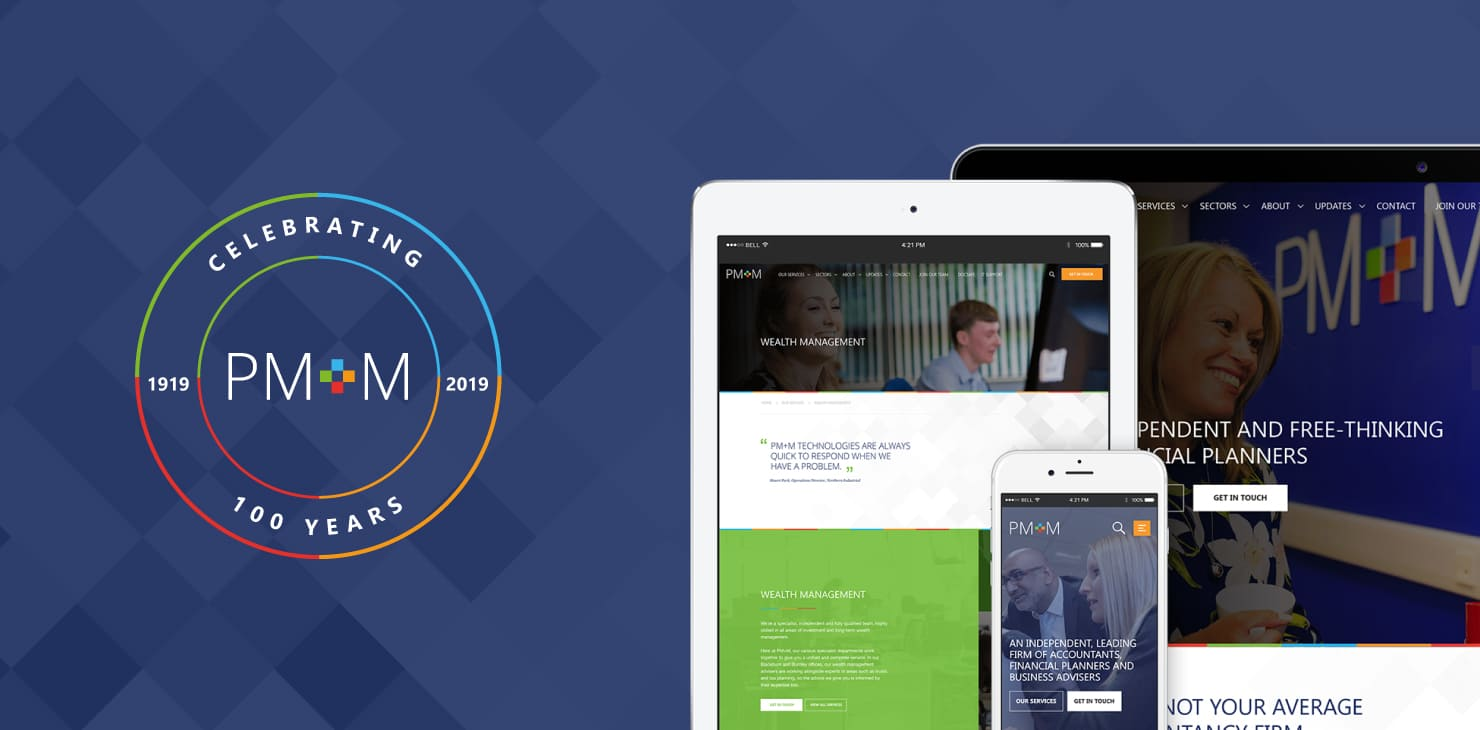 PM+M Celebrate Centenary with new website crafted by 21Digital