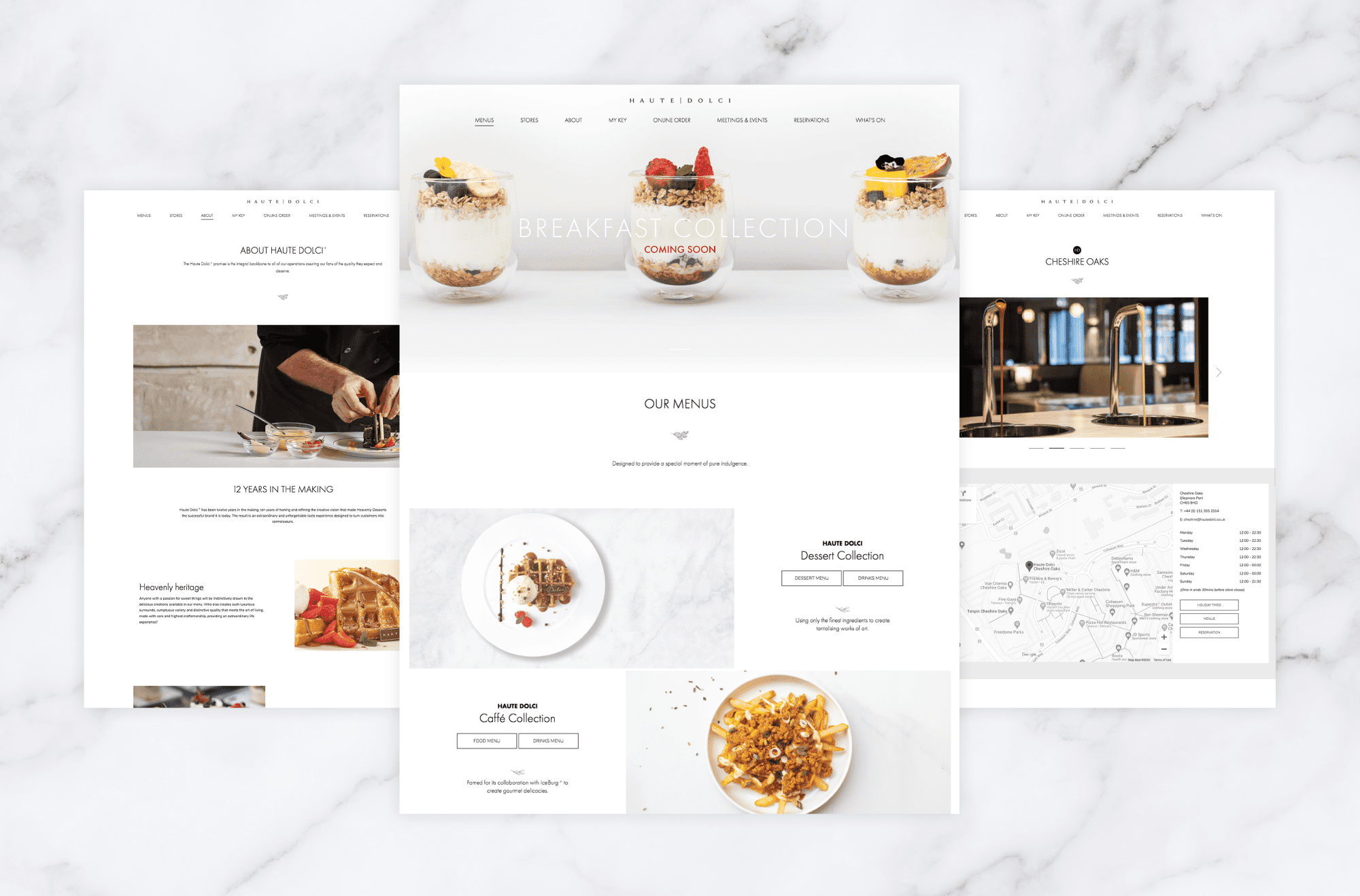 Haute Dolci - Responsive Website Design