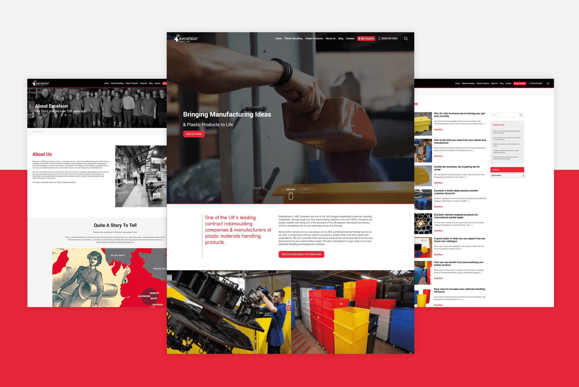 Excelsior - Website Design
