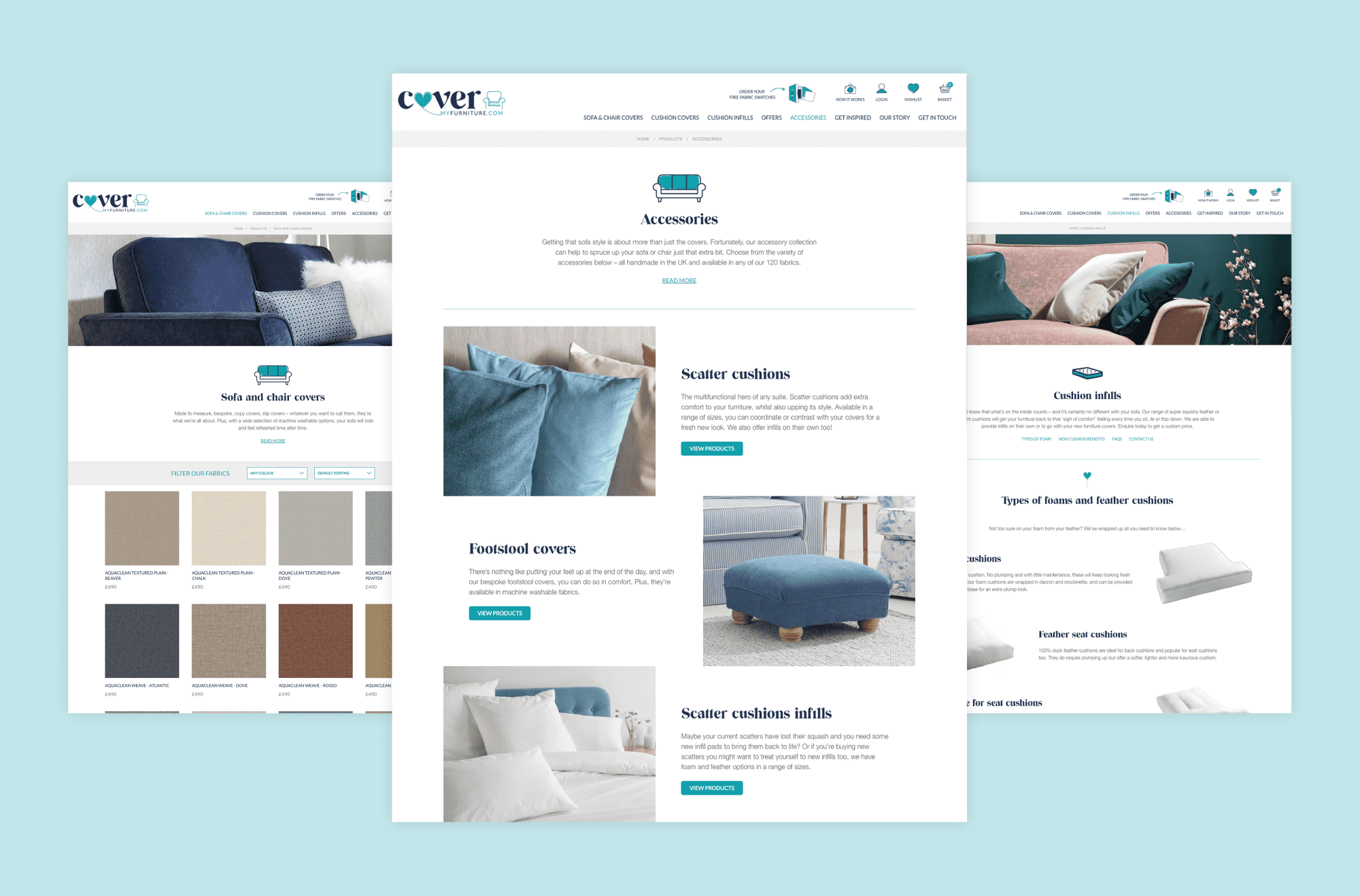 Cover My Furniture - Woocommerce Website