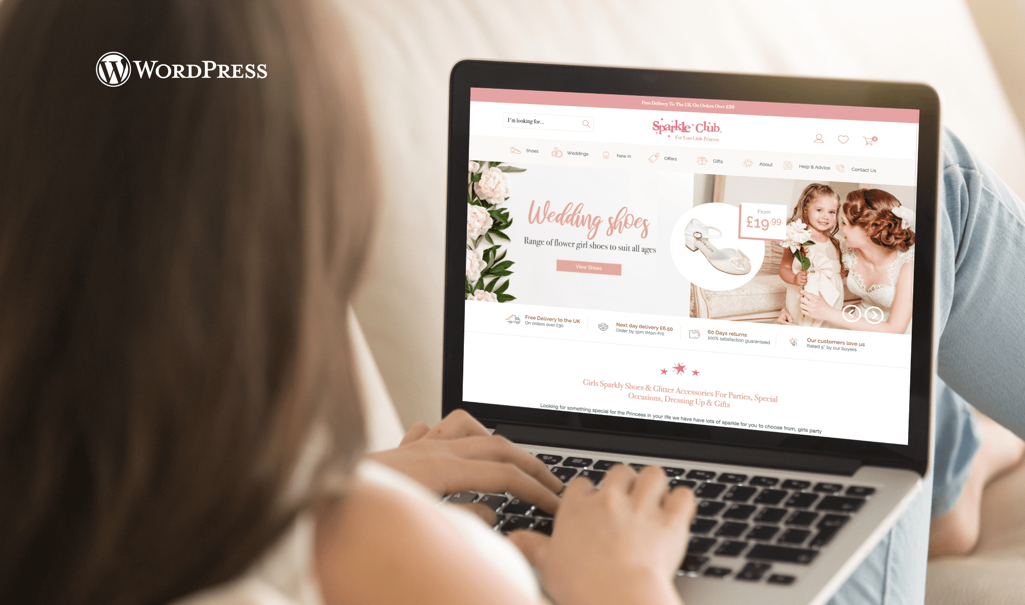 The Sparkle Club - Wordpress Website