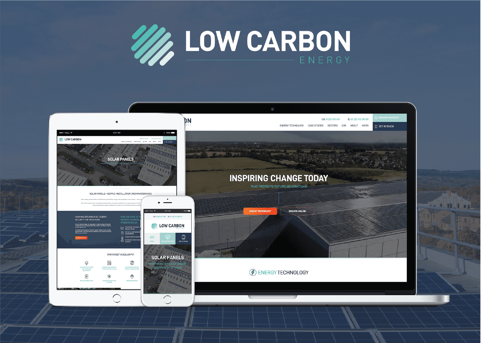 Low Carbon Energy Shines With Brand New Website From 21Digital