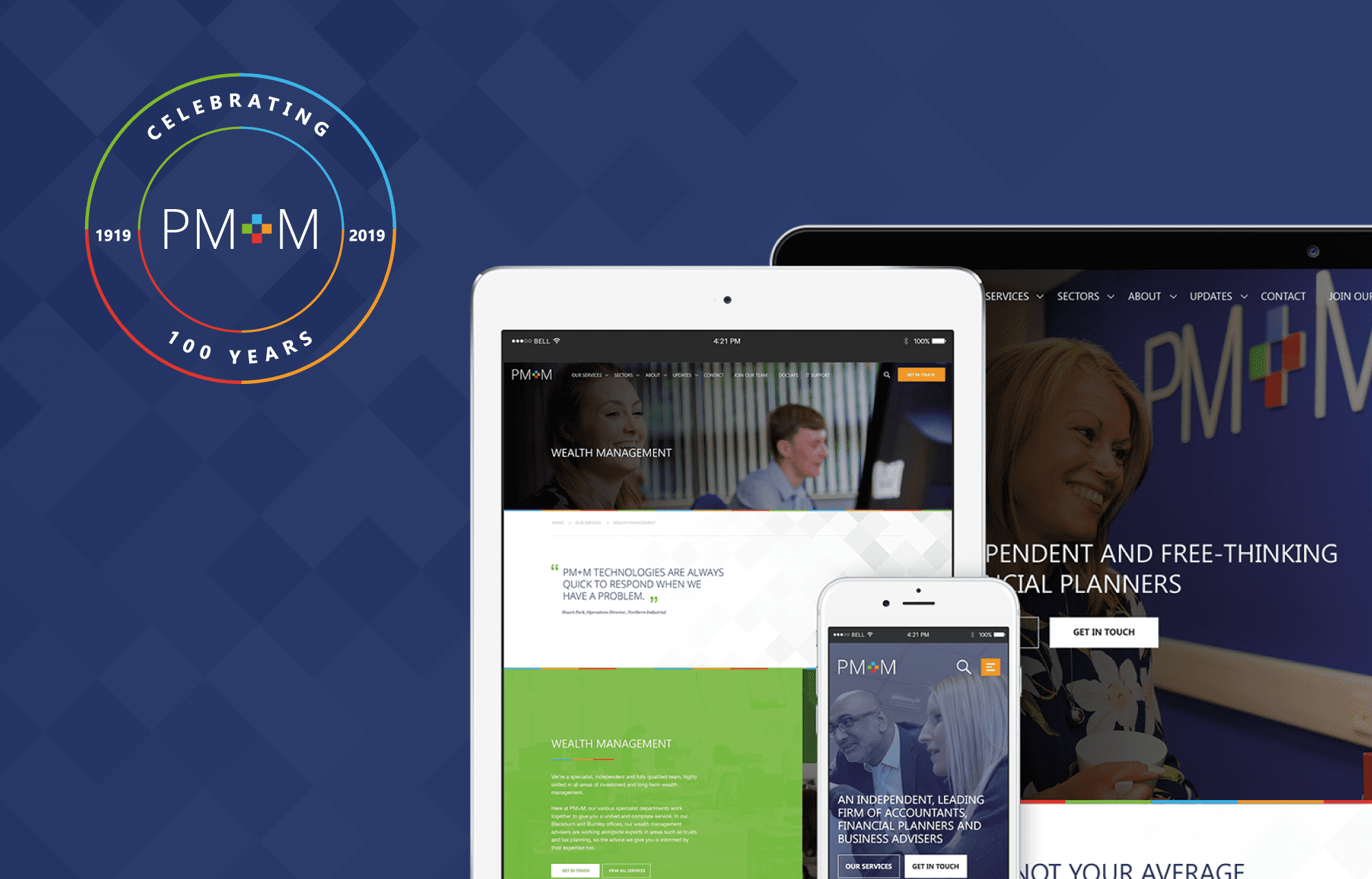 Pm+m celebrates its centenary with new website crafted by 21digital